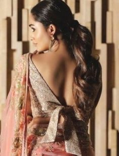 Latest backless blouse designs Brocade Blouse Designs, Netted Blouse Designs, Choli Blouse Design, New Blouse Designs, Stylish Blouse Design, Blouse Back Neck Designs, Neckline Designs, Designer Blouse Patterns, Bridal Blouse Designs
