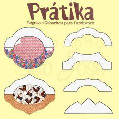 Régua para Barrados Para Patchwork Prátika, Criadas por Samar Kauss para confecção de bordas e barrados em: Jogos Americanos, Toalhas, Caminhos de Mesa, P