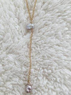 """24k gold plated over brassReal Keshi Pearls Length: 18"""" inches 3"""" drop"""
