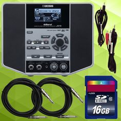 Boss eBand JS-10 Guitar Trainer Package w/ cables & SD card. Buy it here:  http://www.sonicsense.com/boss-eband-js-10-audio-player-w-guitar-effects-bundle-with-16gb-sd-card-and-cables.html