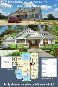 Single story open floor plans one story 3 bedroom 2 for Kentucky dream homes floor plans