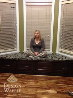 DIY bay window seat cushion