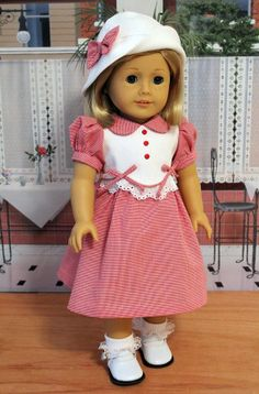 1930s Frock with Cloche Hat for Dolls like Kit or Ruthie. $59.00.