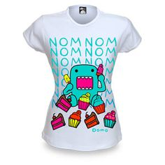 ThinkGeek :: Domo-kun Nom Nom Nom Cupcakes Babydoll - Adnan, this makes me think of you!