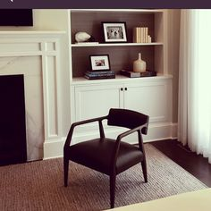Ella Scott Design | Interior Design | Bethesda, MD  #chairporn  I'm totally obsessed with chairs and this one, as in my last post, finishes this corner perfectly! #chairlove