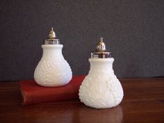 Vintage Milk Glass Imperial Salt and Pepper Shakers...via Etsy.