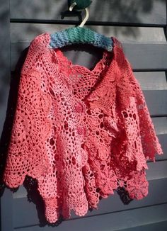 Dyed doily jacket