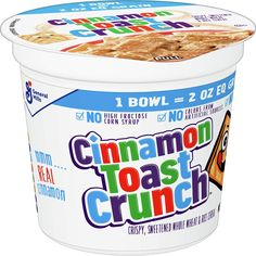 (This is an affiliate pin) Cinnamon Toast Crunch Cereal 2 Ounce Crunch Cereal, Cinnamon Toast Crunch, Breakfast Cereal, Breakfast Recipes, Cups, Foods, Food Food, Mugs, Food Items