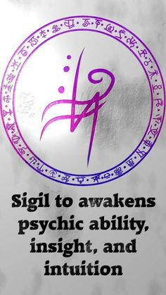 Sigil to awakens psychic ability, insight, and intuition Sigil requests are closed. For more of my sigils go here:. Wiccan Symbols, Magic Symbols, Symbols And Meanings, Viking Symbols, Egyptian Symbols, Viking Runes, Ancient Symbols, Wiccan Beliefs, Paganism