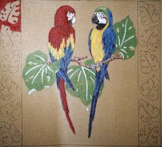 003-A10 red and blue parrots