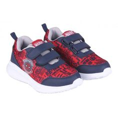 Marvel Spiderman Strap Up Trainers 6-10Uk - Size 8