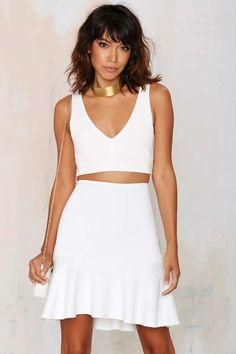 Turn Up the Heat Peplum Skirt