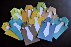New Twist on the Father's Day shirt card--Let kids design the tie on the front of the card.