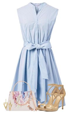 """Blue Dress"" by majezy ❤ liked on Polyvore featuring Chicwish, Ted Baker, ShoeDazzle and MICHAEL Michael Kors"