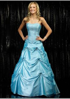 This is kind of what my sister's prom dress is.. It looks great on her!!!