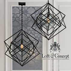 Люстра Cubist Small Chandelier Black