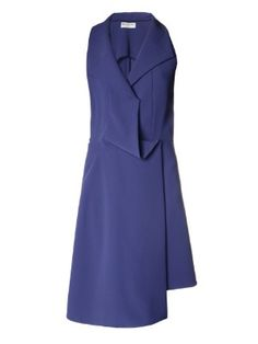 Waterfall-draped sleeveless dress | Balenciaga | MATCHESFASHION.COM
