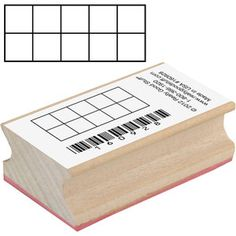 Ten-Frame Stamp - I want one (or several...) - Great for math journals or centers - the kids wiould love using these.