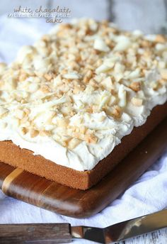 """White Chocolate Macadamia Nut Cake"" 