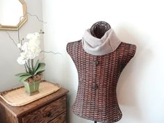 Cashmere Infinity Scarf MUSHROOM Taupe / Light Brown Cashmere Scarf by WormeWoole