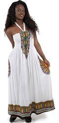 White Tube Top African Sundress #Fashion #Clothing #Women #Dress #Sundress #Style