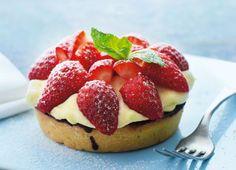 Jordbærkage Classic Danish strawberry cake