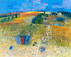 The Wheat Field, 1929			-Raoul Dufy - by style - Naïve Art (Primitivism)