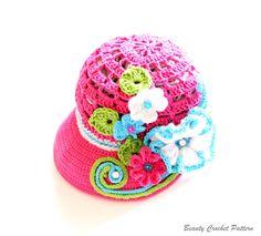 Crochet Newsboy Hat Pattern Crochet by BeautyCrochetPattern