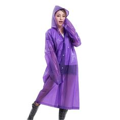 Fashionable Transparent Poncho Raincoat - Big Star Trading Store