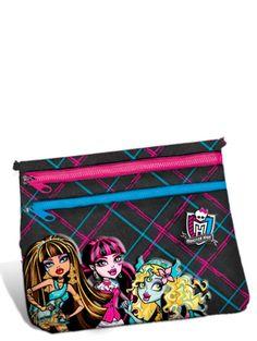 Tyylikäs Monster High -rahapussi, jossa on kaksi erillistä, vetoketjulla varustettua taskua. Koko: 16 x 19 cm.