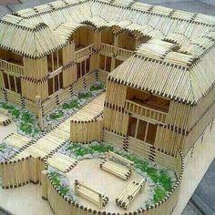Beautiful matchstick house