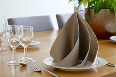 Découvrez comment réaliser ce superbe pliage de serviette très voluptueux. Décorez votre table très facilement avec ce magnifique pliage.