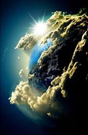 Image result for hubble telescope earth under clouds