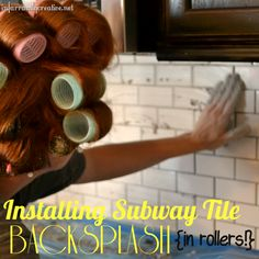 Installing a subway tile backsplash