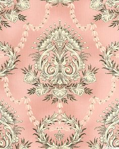 St. Remy de Provence - Dreamy Damask - Retro Pink