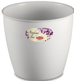 Pot ou Cache Pot Interieur et Exterieur 14.3 L ACADEMY ROND 30 Blanc au meilleur prix ! - LeKingStore