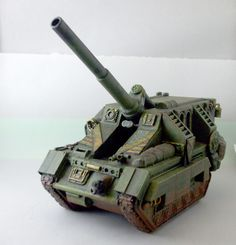 Converted Basilisk tank with armored crew compartment. Warhammer 40K.