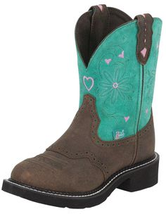 """Womens Gypsy Cowgirl Round Toe 8"""" Boots 