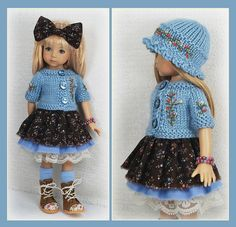 OOAK Blue Brown Outfit from maggie_kate_create on ebay ends 8/13/14. SOLD for $127.50