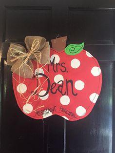 spring door hanger can customize colors at checkout Fall Crafts, Diy And Crafts, Arts And Crafts, Teacher Appreciation Week, Teacher Gifts, Teacher Stuff, Classroom Design, Classroom Decor, Future Classroom