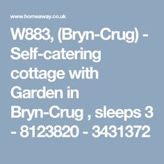 W883, (Bryn-Crug) - Self-catering cottage with Garden in Bryn-Crug , sleeps 3 - 8123820 - 3431372