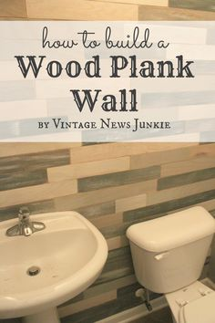 How to Build a Wood Plank Wall - cool for behind the bed... using thin plywood stained and painted in different colors... could make a cool headboard