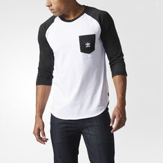 Inspired by the bustling energy of city neighborhoods, this men's pocket t-shirt takes its familiar design from authentic sportswear. Restyled for the streets, this tee features an allover word-camo graphic on the pocket and on the three-quarter sleeves.