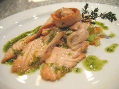 Ricetta Salmone marinato con bacche di coriandolo e arance con verdure al balsamico