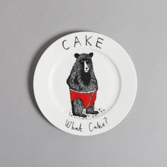 Beautiful side plate featuring original design applied by hand using decals, by James Ward. Fired in Stoke on Trent, UK. Stoke On Trent, Animal Plates, James Ward, Side Plates, Ceramic Decor, Teller, Baby Love, Eat Cake, New Baby Products