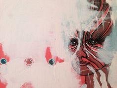 Kristina Borregaard Hall. Kvinde, zebra, acryl på lærred. Kriskrea.