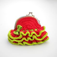 Free Crochet Patterns: Free Crochet Bags, Purses  Coin Purses Patterns - heel veel leuke patroontjes!