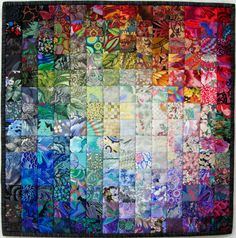 "Colorwash quilt, 21""square, by Wanda S Hanson 