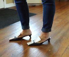 4d0ac21969371 VTG Prada Mule Sandals Black White 38 7 7.5 Avant-gard  Prada  Mules