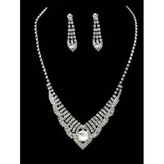 COLLAR RHINESTONE NECKLACE AND EARRING SET